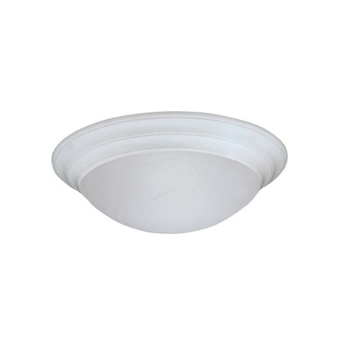 Designers Fountain Lighting Flushmount Light with Alabaster Glass in White Finish 1245S-WH