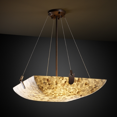 Justice Design Group Justice Design Group Alabaster Rocks! Collection Pendant Light ALR-9622-25-DBRZ