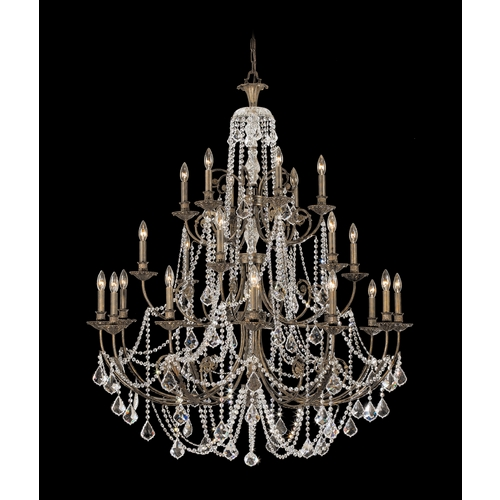 Crystorama Lighting Crystal Chandelier in English Bronze Finish 5120-EB-CL-MWP