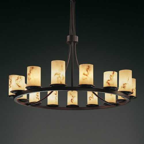 Justice Design Group Justice Design Group Lumenaria Collection Chandelier FAL-8715-10-DBRZ