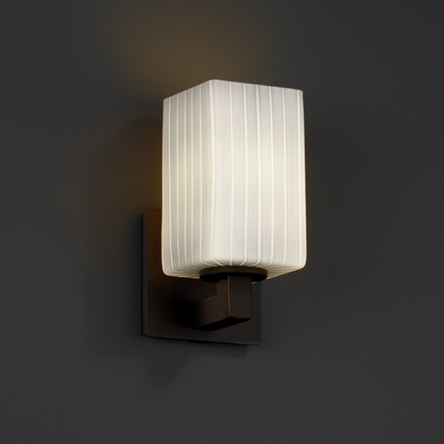 Justice Design Group Justice Design Group Fusion Collection Sconce FSN-8921-15-RBON-DBRZ