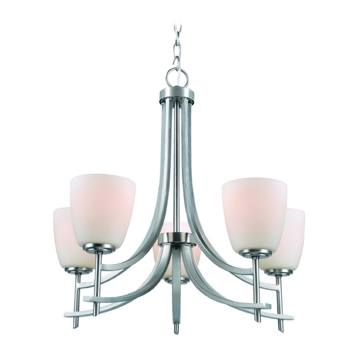 Lite Source Lighting Lite Source Lighting Cade Polished Steel Chandelier LS-19757