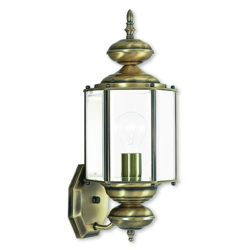 Livex Lighting Livex Lighting Antique Brass Outdoor Wall Light 2006-01