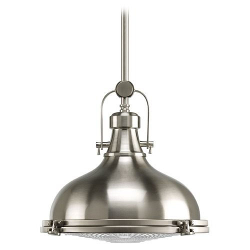 Progress Lighting Progress Lighting Fresnel Lens Brushed Nickel LED Pendant Light P5188-0930K9
