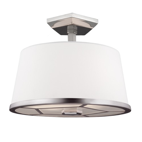 Feiss Lighting Feiss Lighting Pentagram Satin Nickel / Polished Nickel Semi-Flushmount Light SF318SN/PN