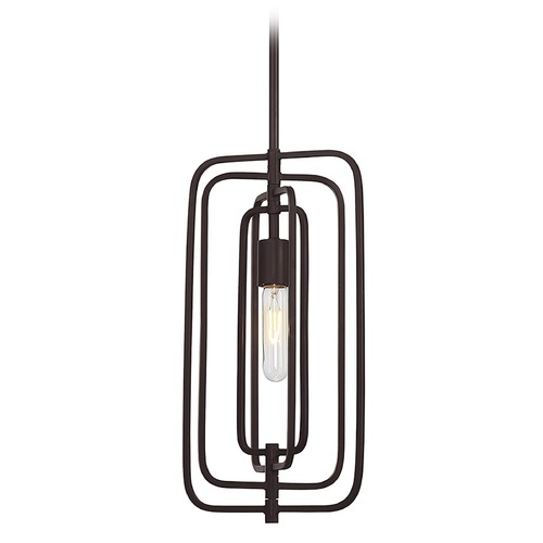 Savoy House Mid-Century Modern Mini-Pendant Light Bronze Berlin by Savoy House 7-824-1-13