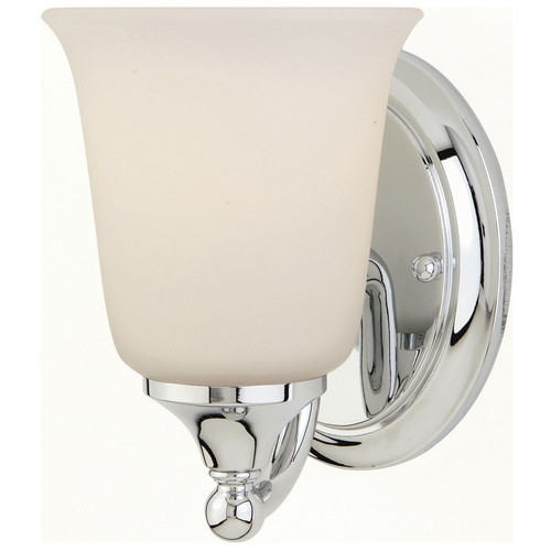 Feiss Lighting Sconce Wall Light with White Glass in Chrome Finish VS10501-CH