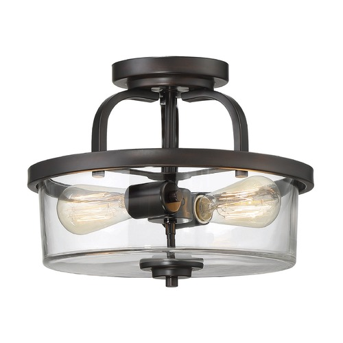 Savoy House Savoy House Lighting Tulsa English Bronze Semi-Flushmount Light 6-6053-2-13