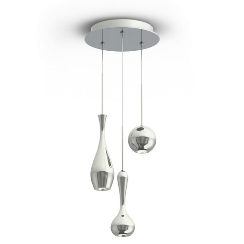 Modern Forms by WAC Lighting Acid LED Round Chandelier PD-ACID03R-PN