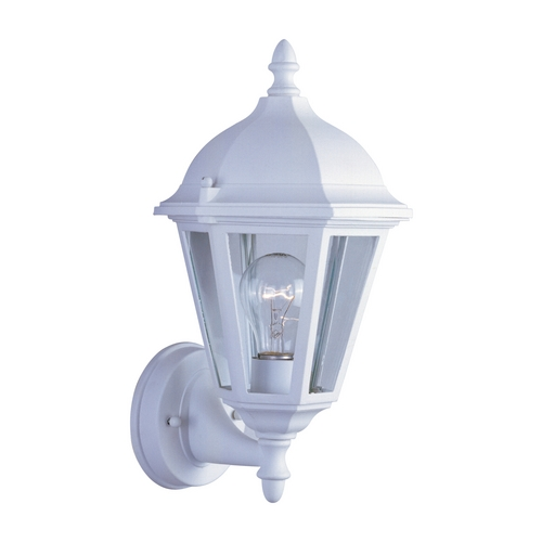 Maxim Lighting Outdoor Wall Light with Clear Glass in White Finish 1002WT