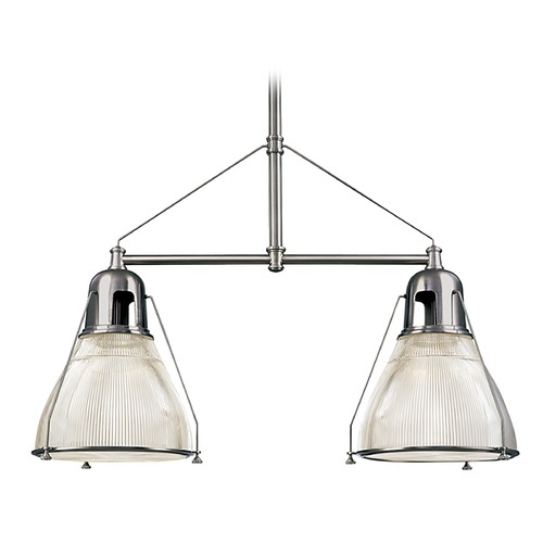 Hudson Valley Lighting Modern Island Light with Clear Glass in Polished Nickel Finish 7312-PN