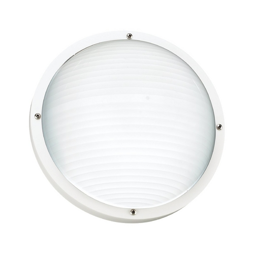 Sea Gull Lighting White 10-Inch Round Bulkhead Light 83057-15