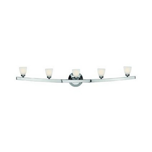 Access Lighting Modern Bathroom Light with White Glass in Chrome Finish 63815-46-CH/OPL