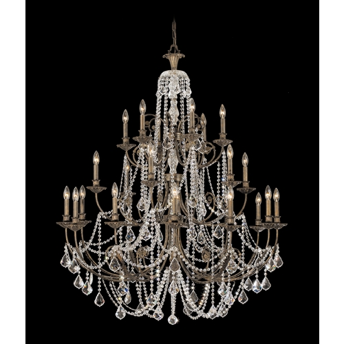 Crystorama Lighting Crystal Chandelier in English Bronze Finish 5120-EB-CL-S