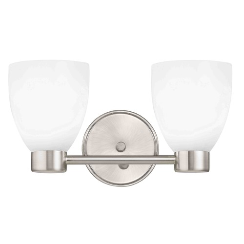 Design Classics Lighting Aon Fuse Contemporary Satin Nickel Bathroom Light with Bell Glass 1802-09 GL1028MB