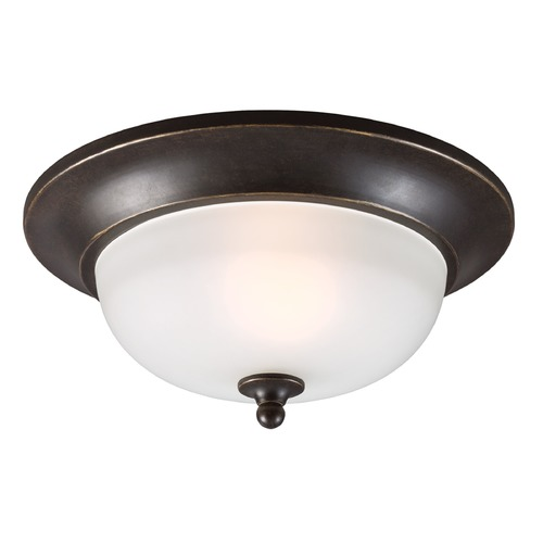 Sea Gull Lighting Sea Gull Lighting Humboldt Park Burled Iron Close To Ceiling Light 7827401BLE-780