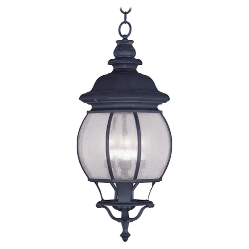 Livex Lighting Livex Lighting Frontenac Black Outdoor Hanging Light 7910-04