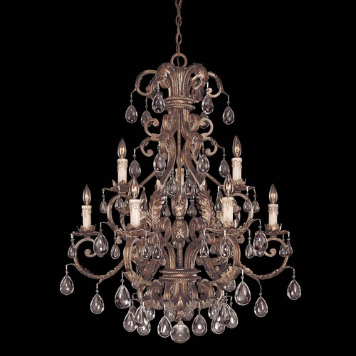 Savoy House Savoy House New Tortoise Shell W/silver Crystal Chandelier 1-5307-9-8