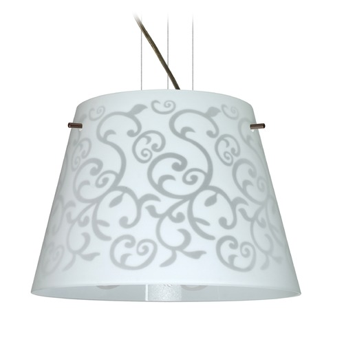 Besa Lighting Besa Lighting Amelia Bronze LED Pendant Light with Empire Shade 1KV-4340WD-LED-BR
