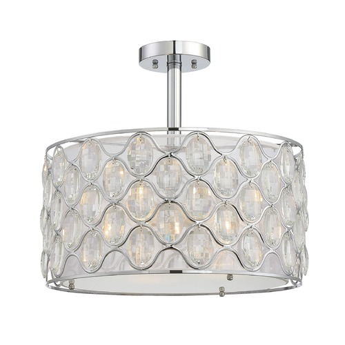 Savoy House Savoy House Lighting Opus Polished Chrome Semi-Flushmount Light 6-6063-3-11