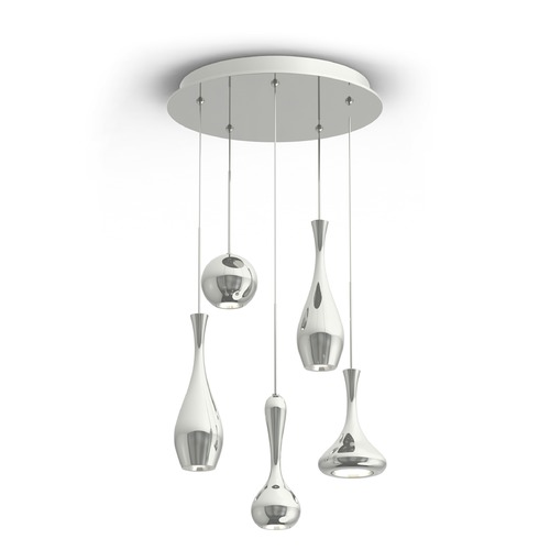 Modern Forms by WAC Lighting Acid LED Round Chandelier PD-ACID05R-PN