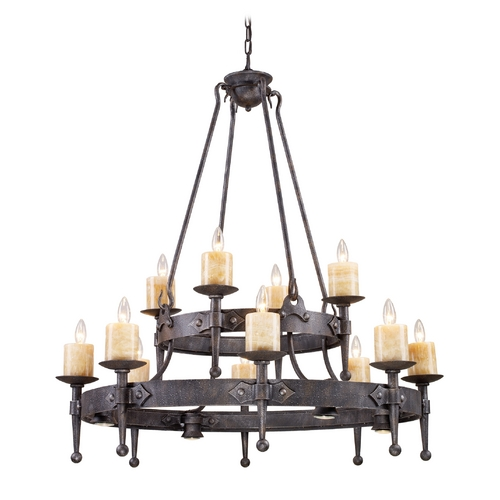 Elk Lighting Chandelier in Moonlit Rust Finish 14006/8+4+4