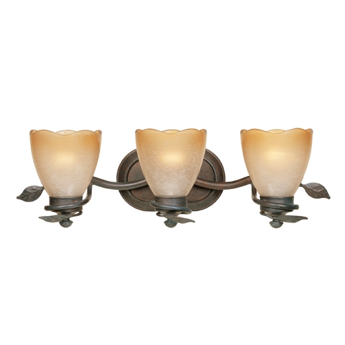 Designers Fountain Lighting Bathroom Light with Beige / Cream Glass in Old Bronze Finish 95603-OB