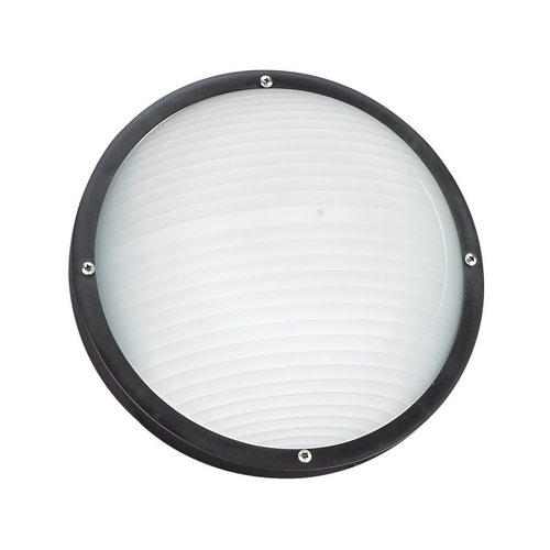 Sea Gull Lighting Black Energy Star Round Bulkhead Marine Light 83057BLE-12
