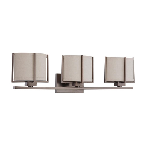 Nuvo Lighting Bathroom Light with Oval Shades in Hazel Bronze Finish 60/4043