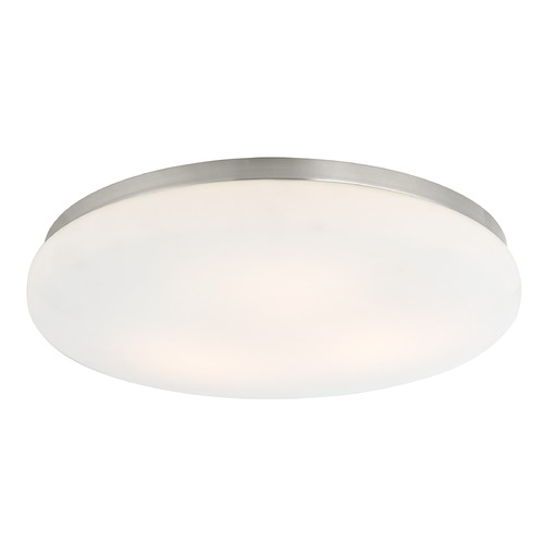 Recesso Lighting by Dolan Designs Low Profile Decorative Recessed Light Trim with Satin White Glass 10320-09