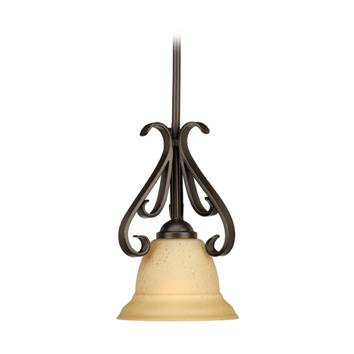Progress Lighting Progress Mini-Pendant Light with Beige / Cream Glass P5153-77