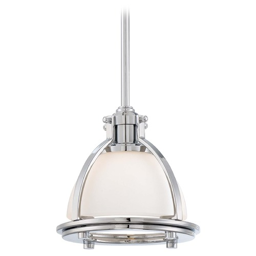 Minka Lavery Mini-Pendant Light with White Glass 2240-77