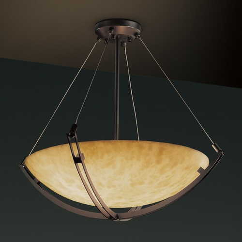 Justice Design Group Justice Design Group Clouds Collection Pendant Light CLD-9724-35-DBRZ