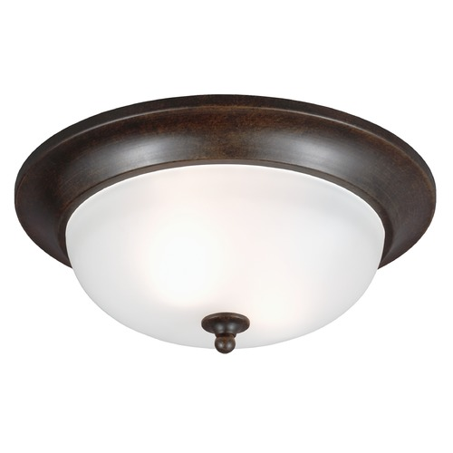 Sea Gull Lighting Sea Gull Lighting Humboldt Park Burled Iron Close To Ceiling Light 7827402BLE-780