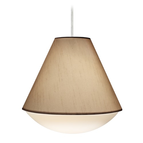 Besa Lighting Besa Lighting Reflex Satin Nickel LED Pendant Light with Empire Shade 1JT-RFLXCO-LED-SN