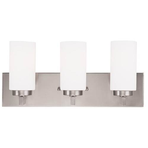 Livex Lighting Livex Lighting West Lake Brushed Nickel Bathroom Light 16373-91