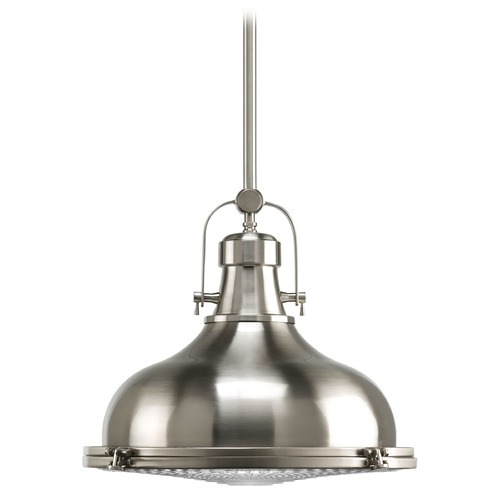 Progress Lighting Progress Lighting Fresnel Lens Brushed Nickel LED Pendant Light P5197-0930K9