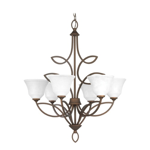 Progress Lighting Progress Lighting Monogram Roasted Java Chandelier P4737-102