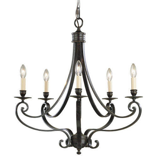 Feiss Lighting Chandelier in Liberty Bronze Finish F1929/5LBR