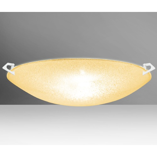 Besa Lighting Besa Lighting Sonya White LED Flushmount Light 8419GD-LED-WH