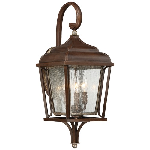 Minka Lavery Minka Astrapia Dark Rubbed Sienna with Aged Silver Outdoor Wall Light 72542-593