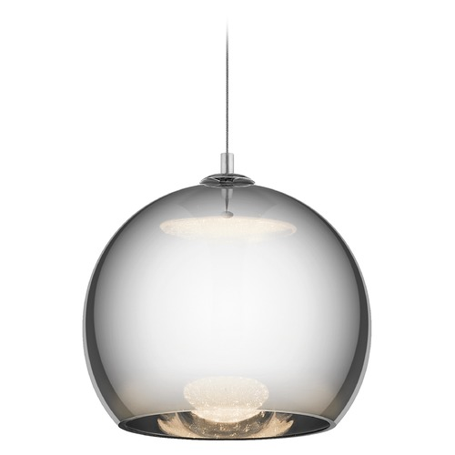Elan Lighting Elan Lighting Rendo Chrome LED Pendant Light with Globe Shade 83791