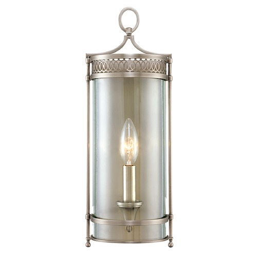 Hudson Valley Lighting Sconce Wall Light with Clear Glass in Antique Nickel Finish 8991-AN