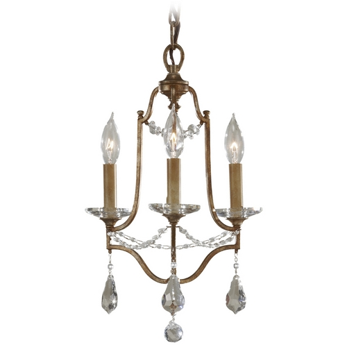 Feiss Lighting Mini-Chandelier Light in Oxidized Bronze Finish F2623/3OBZ