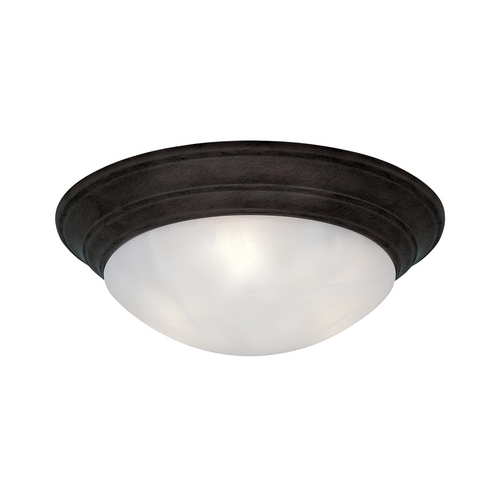 Designers Fountain Lighting Flushmount Light with Alabaster Glass in Oil Rubbed Bronze Finish 1245XL-ORB