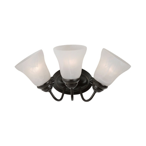 Sea Gull Lighting Bathroom Light with Alabaster Glass in Heirloom Bronze Finish 44762-782