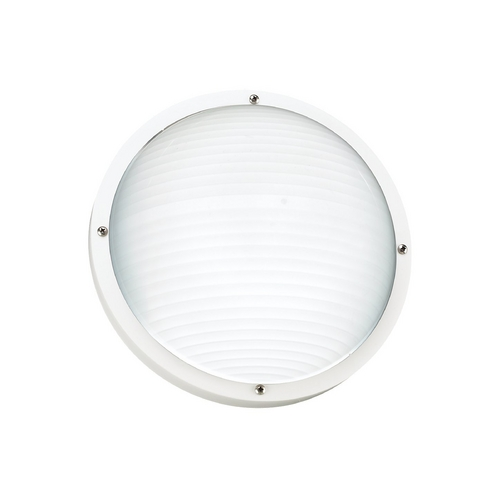Sea Gull Lighting White Energy Star Round Bulkhead Marine Light 83057BLE-15