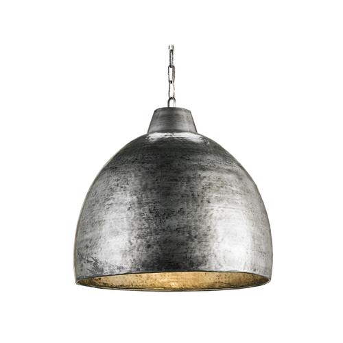Currey and Company Lighting Modern Pendant Light in Blackened Steel Finish 9782