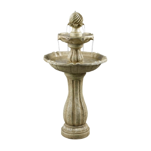Kenroy Home Lighting Outdoor Fountain in Sandstone Finish 50194SS