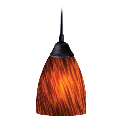Elk Lighting Elk Lighting Classico Dark Rust LED Mini-Pendant Light with Bowl / Dome Shade 406-1ES-LED